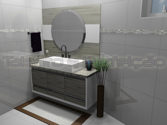 TALENTO E PERFEIÇÃO (41) 36212147 Moveis sob medida, Móveis e decorações, Co -> Moveis Para Banheiro Pequeno Sob Medida